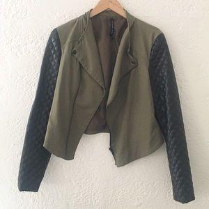 Cropped Olive Jacket